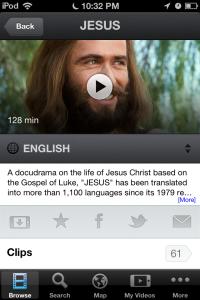 Jesus Film App Screen Shot