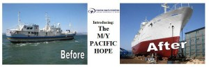 MY Pacific Hope Before and After