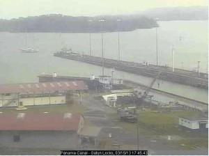 YWAM Ship Caribbean Reach Exiting Panama Canal Lock
