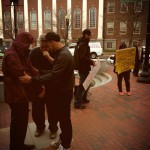 Praying around the city of Boston