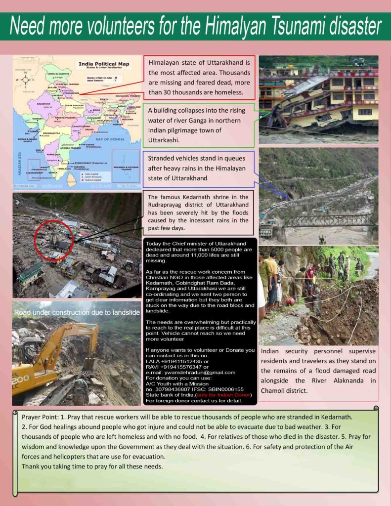 Newsletter for YWAM Uttarakhand