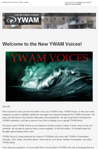 New YWAM Voices eZine