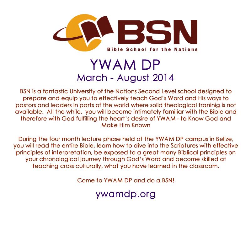 YWAM Destination Paridise Bible School for the Nations
