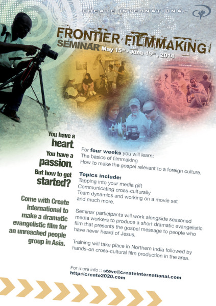 YWAM Frontier Filmmaking Seminar in India