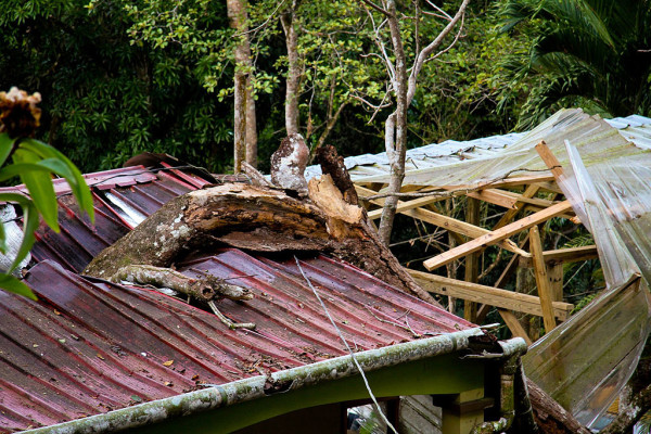 YWAM Panama Buidling Damaged by Falling Tree