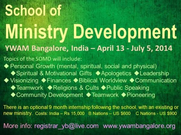 YWAM Bangalore India School of Ministry Development