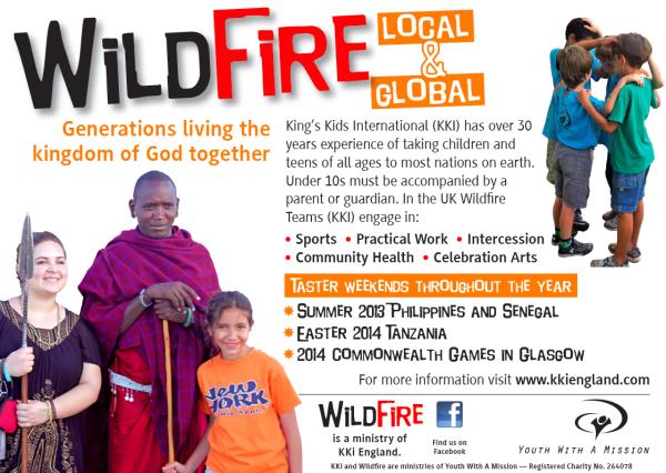 YWAM England Kings Kids Wildfire Outreaches