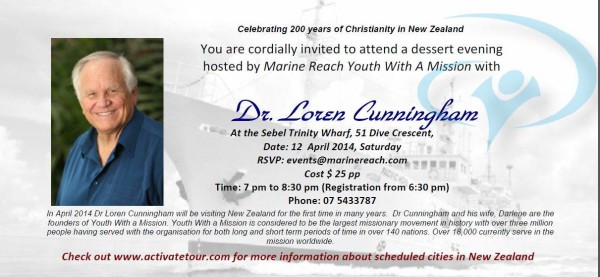 Loren Cunningham Visiting Tauranga New Zealand