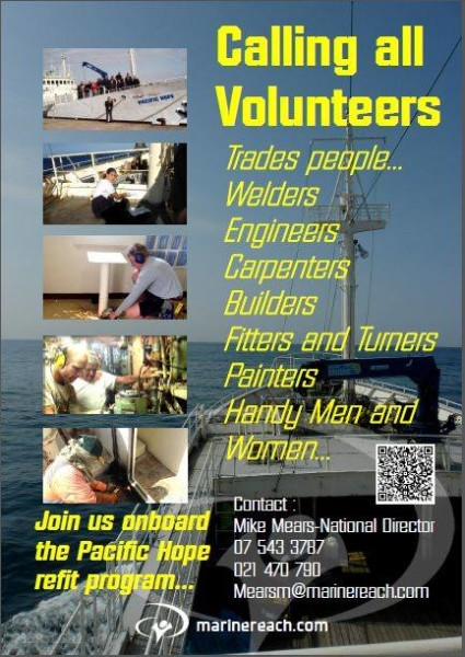 Marine Reach New Zealand Volunteers Needed