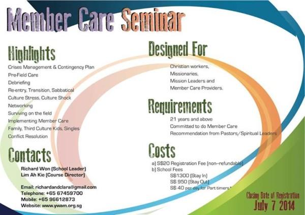 YWAM Singapore Member Care Seminar