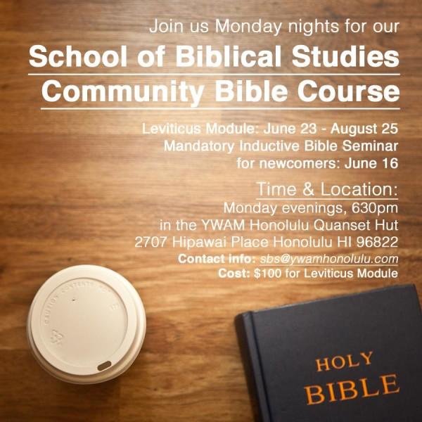 YWAM Honolulu Community Bible Course